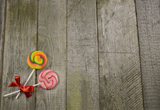 Lollipops border Royalty Free Stock Images