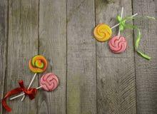 Lollipops border 2 Stock Photo