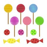 Lollipops and candies Stock Photo