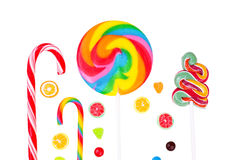 Lollipops and candies Royalty Free Stock Photography