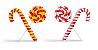 Lollipops and candy canes Stock Photo