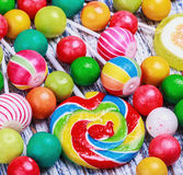 Lollipops and candy Stock Images