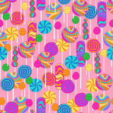 Lollipops Candy Repeat Pattern. Lollipops Candy Seamless Repeat Pattern Vector Illustration Stock Photography