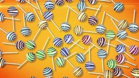 lollipops Caramelo en el palillo Imagenes de archivo