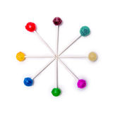 Lollipops Colorful Circle white background Royalty Free Stock Images