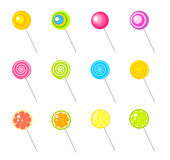 Lollipops. Colorful Lollipops collection. Vector illustration Stock Photography