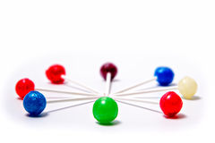 Lollipops Colorful Laying Circle white background Stock Photo