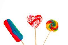 Lollipops coloridos Foto de Stock Royalty Free