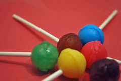 Lollipops coloridos Fotos de Stock Royalty Free