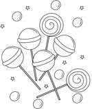 Lollipops coloring page Stock Image