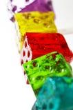 Lollipops de los dados de Colorfull Imágenes de archivo libres de regalías