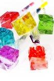 Lollipops de los dados de Colorfull Foto de archivo