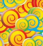 Lollipops. Design over pattern background vector illustration Stock Photography