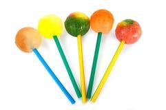Lollipops dulces coloridos Foto de archivo