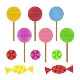 Lollipops e doces Foto de Stock