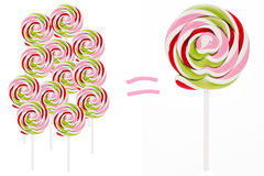 Lollipops - a few and big one Royalty Free Stock Photography
