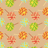 Lollipops flat seamless background Stock Photography