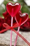 Lollipops in heart shape Royalty Free Stock Image
