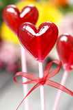 Lollipops in heart shape Royalty Free Stock Image
