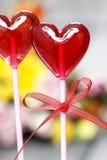 Lollipops in heart shape Stock Photo