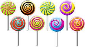 Lollipops Lollipop Collection  Spiral Swirly Royalty Free Stock Image