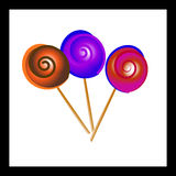 Lollipops. Lovely multicolored lollipops in a stick Royalty Free Stock Images