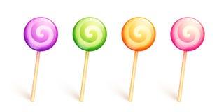 Lollipops lustrosos do vetor Fotos de Stock Royalty Free