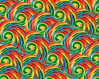 Lollipops. Multiple rows of colorful lollipops Stock Photos