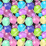 Lollipops pattern color big. Background Stock Photography