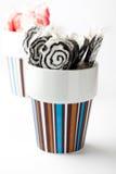 Lollipops pretos e cor-de-rosa Fotos de Stock Royalty Free