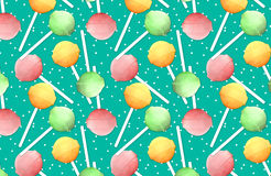 Lollipops. Repeated background with colored lollipops Royalty Free Stock Photos
