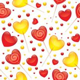 Lollipops seamless pattern Stock Photos