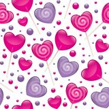 Lollipops seamless pattern Royalty Free Stock Photos