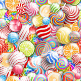 Lollipops. Seamless pattern vector background with lollipops. candies and sweets, bright and colorfull Stock Photo