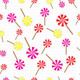 Lollipops seamless pattern. Vector illustration. Stock Images