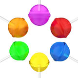 Lollipops set. Lollipops on a white background Royalty Free Stock Photography