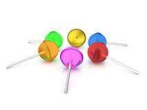 Lollipops set. On a white background. 3D illustration Royalty Free Stock Images