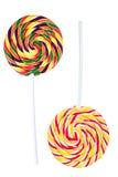Lollipops a spirale variopinti Fotografie Stock