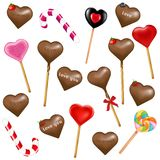 Lollipops And Sweets. Vector Royalty Free Stock Images