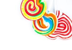Lollipops variopinti Immagine Stock