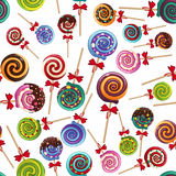 Lollipops. Vector colored lollipops on white background Royalty Free Stock Photos