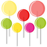 Lollipops on white background Royalty Free Stock Image