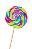 Lolllipop. Colorful lollipop isolated against white stock photos
