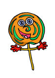 A cartoon lolipop Royalty Free Stock Image