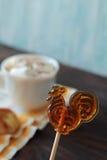 Lolly en Hete cacao Stock Afbeelding