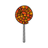 Lolly of fair food design. Lolly icon. Fair food snack carnival and festival theme. design. Vector illustration stock illustration