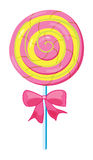 A lolly. Illustration of a lolly sweet on a white background Royalty Free Stock Images