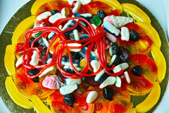 Lolly pizza colorful temptation royalty free stock photography