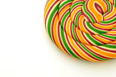 Lolly pop. A lolly pop on a white background Royalty Free Stock Photo