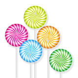 Lolly Pop Candy. Colorful Lolly-pop candies on white background Royalty Free Stock Photo